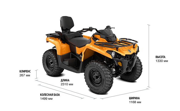 Can-Am Outlander MAX DPS 570 (2019 м.г.)
