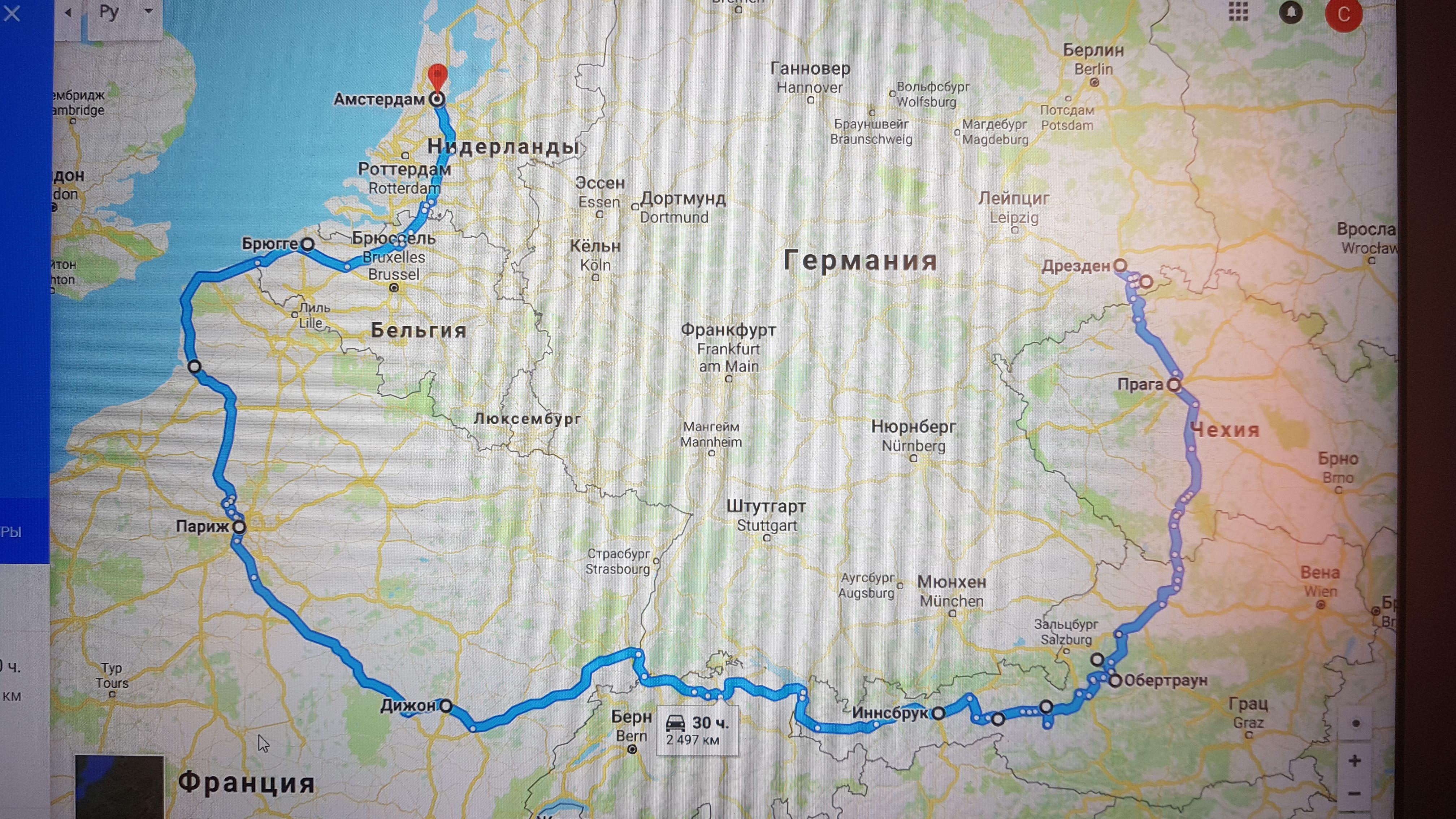Спайдер-тур по Европе, 2018г.!