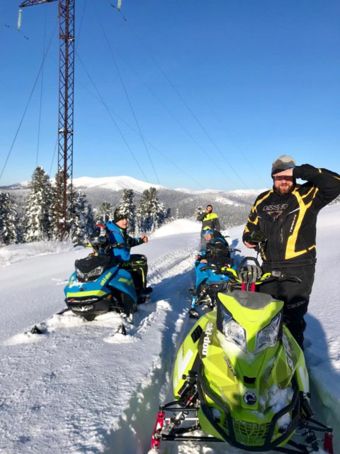 Ергаки. Хакасия. Поездка на горных снегоходах