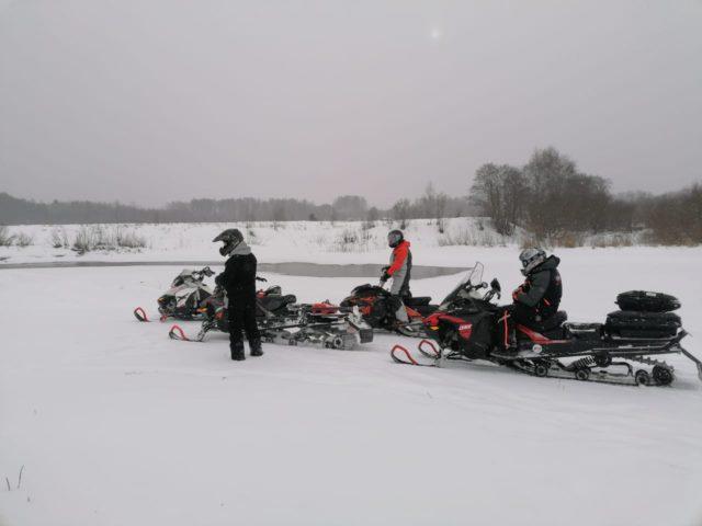 Отчет по мероприятию «Выезд на снегоходах по берегам реки Тьма»